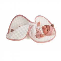 Antonio Juan 7049 TONETA - realistická panenka miminko se zvuky a měkkým látkovým tělem - 34 cm