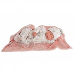 Antonio Juan 80109 SWEET DREAMS REBORN - spící realistická panenka miminko s měkkým látkovým tělem - 40 cm