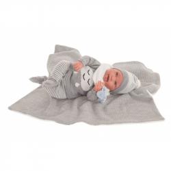 Antonio Juan 80114 SWEET REBORN PIPO - realistická panenka miminko s měkkým látkovým tělem - 40 cm