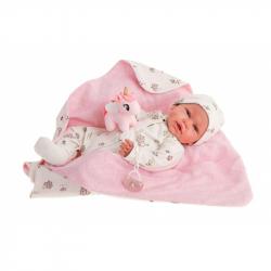 Antonio Juan 81063 Můj první  REBORN DANIELA - realistická panenka miminko s měkkým látkovým tělem - 52 cm