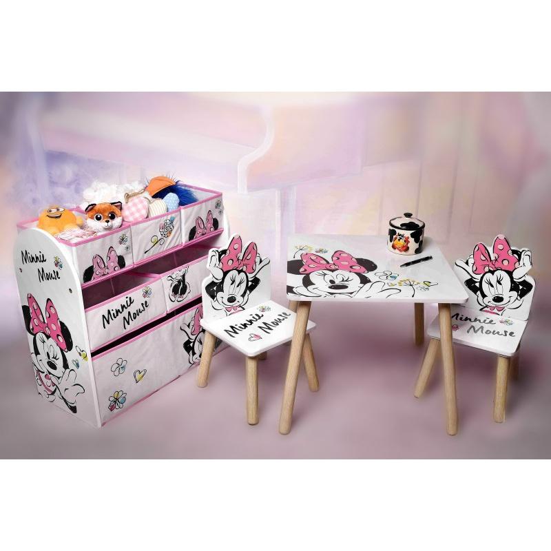 Detský stôl s stoličkami Minnie Mouse