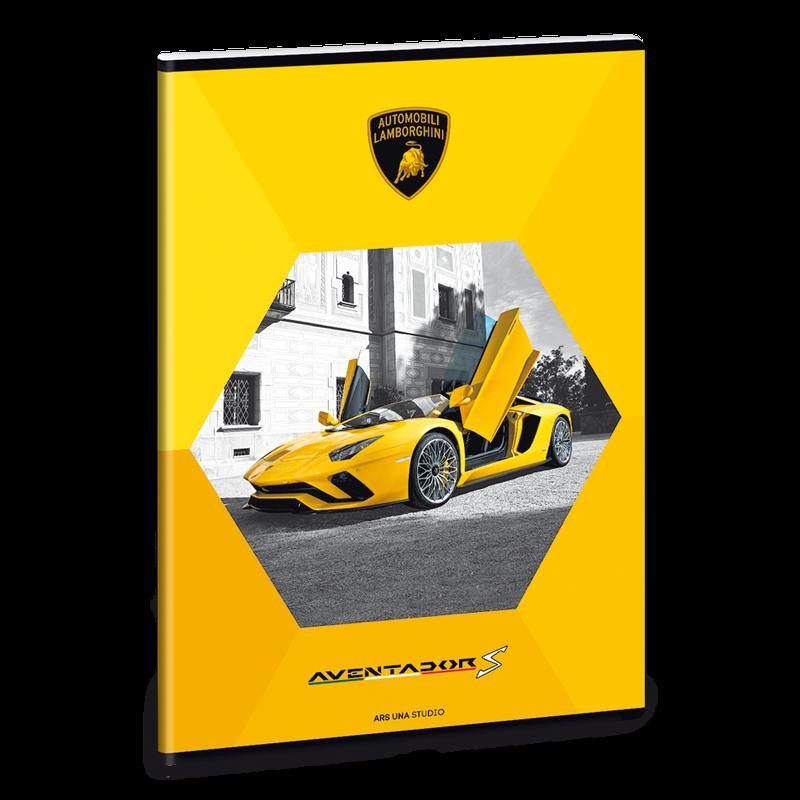Ars Una Zošit Lamborghini žltý A4