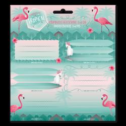 Ars Una etykiety do skoroszytów Flamingo
