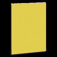 Linajkový zošit A5 trblietavý žltý