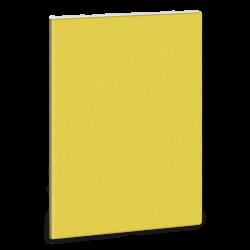 Linkovaný sešit A5 třpytivý žlutý