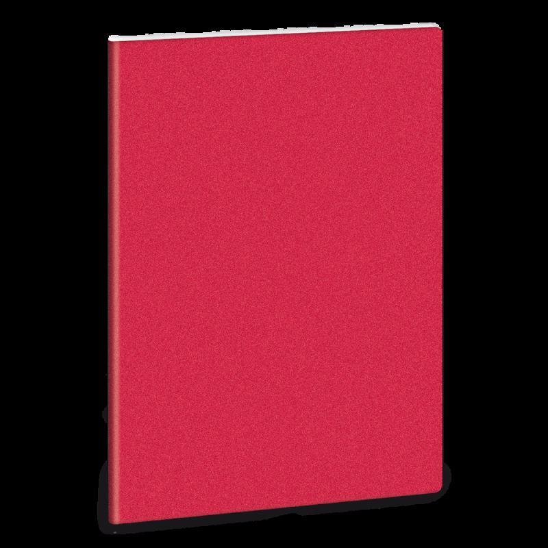 Linkovaný sešit A5 třpytivý červený