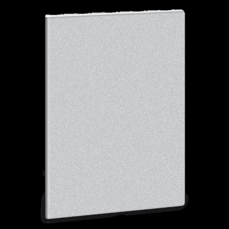 Linkovaný sešit A5 třpytivý stříbrný