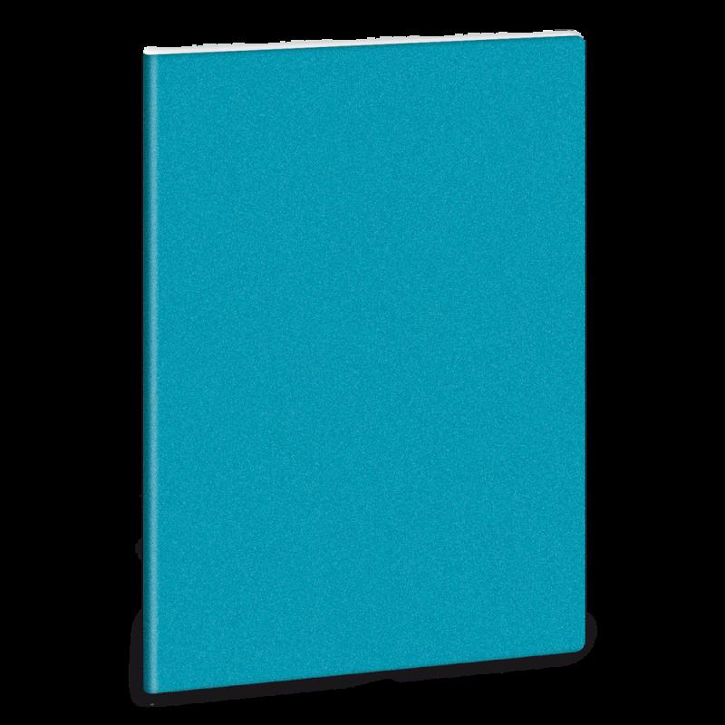 Linkovaný sešit A5 třpytivý modrý