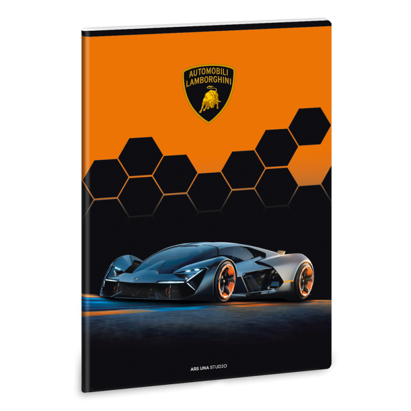 Ars Una Zošit Lamborghini čierne A4