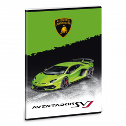 Ars Una Zošit Lamborghini 20 zelené A4 linajkový