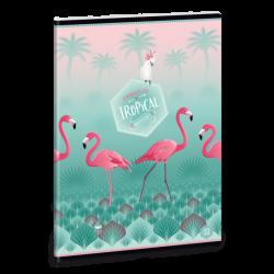 Sešit Pink Flamingo A5 linkovaný