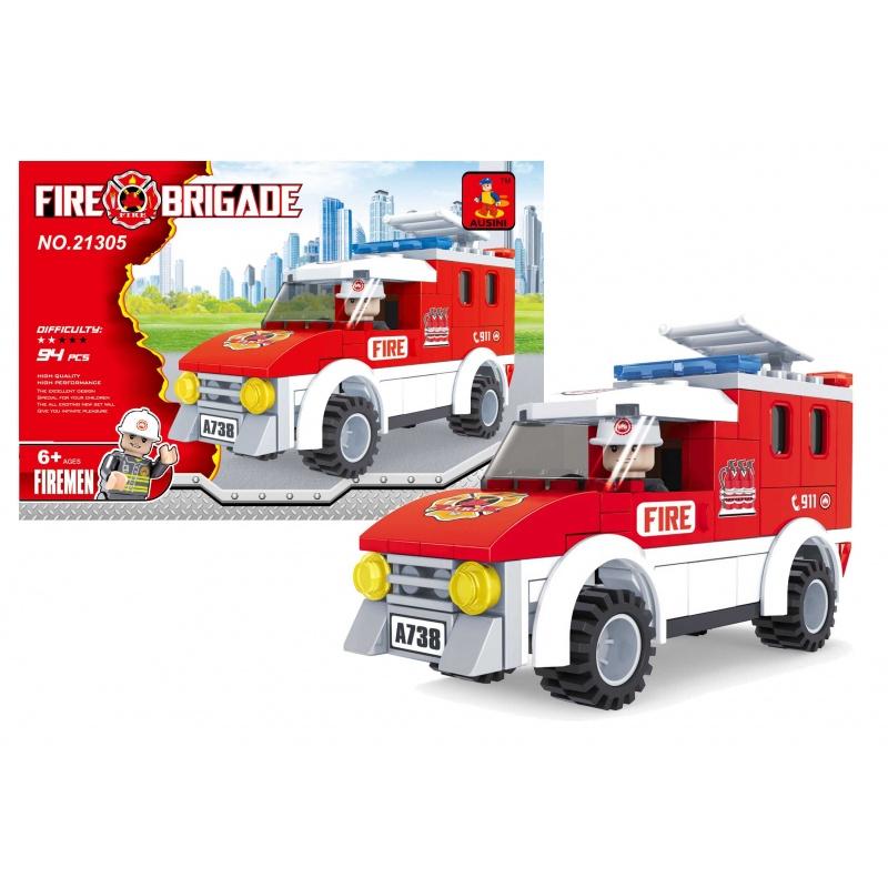 Stavebnice AUSINI hasiči auto, 94 dílů