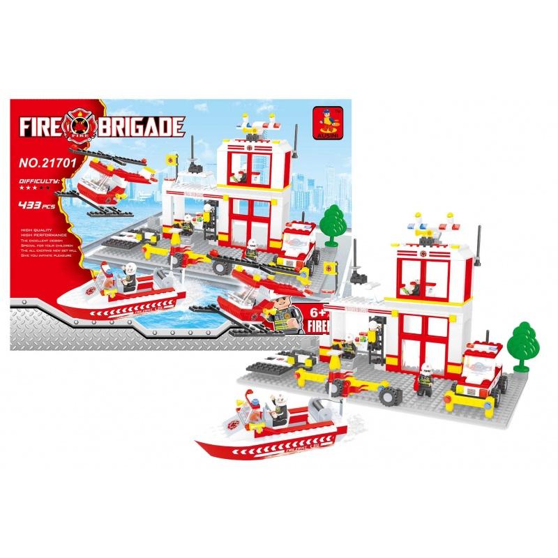 Stavebnice AUSINI hasiči hasičská stanice, 433 dílů