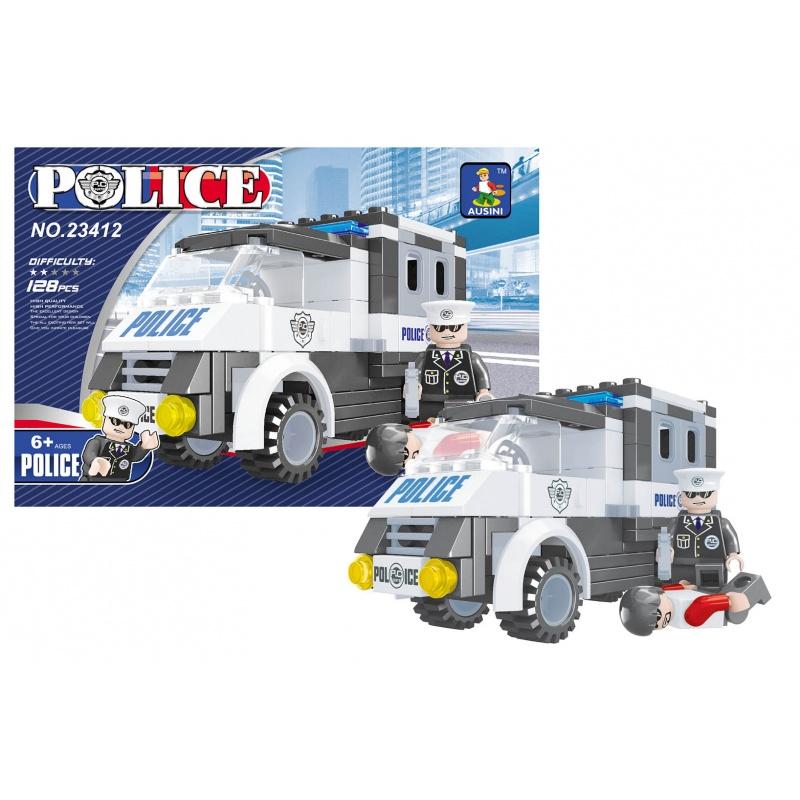 Stavebnice AUSINI policejní auto, 128 dílů