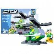 Stavebnice AUSINI město - vrtulník, 33 dílů
