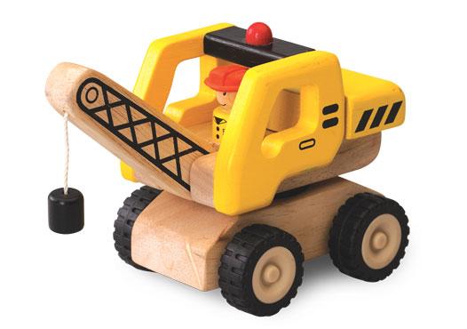 Dřevěný mini jeřáb