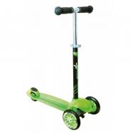 Dětská tříkolka - zelená, průměr kol 120mm a 80mm