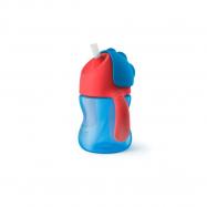 AVENT Hrníček s brčkem 200ml - modrý