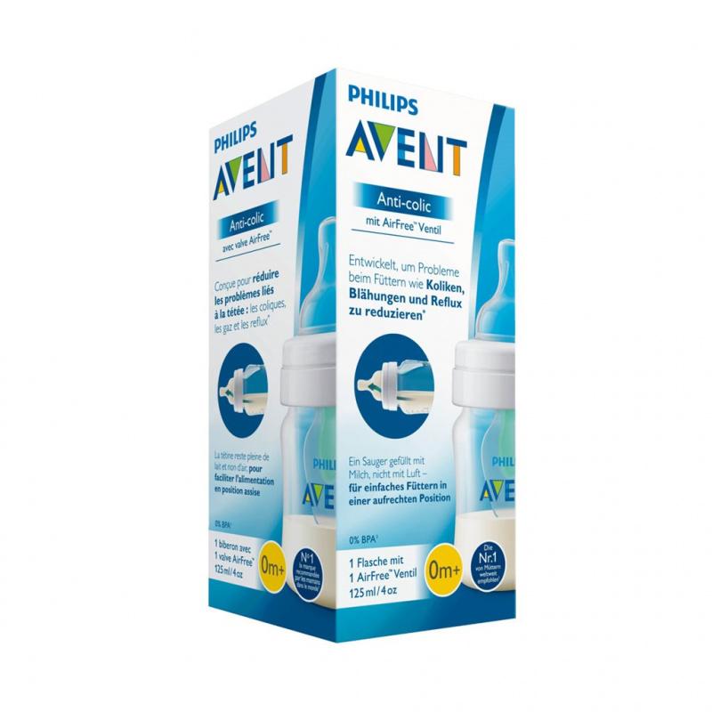 Dojčenská fľaša Avent Anti-Colic s ventilom Airfree 125 ml