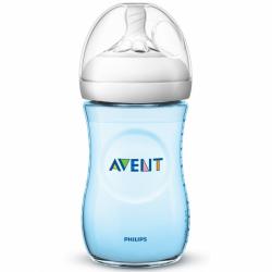 Dojčenská fľaša Avent Natural 260 ml modrá