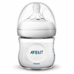Dojčenská fľaša Avent Natural transparentný 125 ml