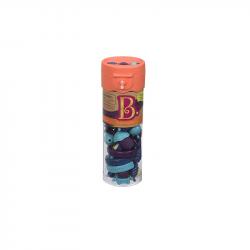 Spojovacie korále a tvary Pop Arty 50 ks modré / fialové