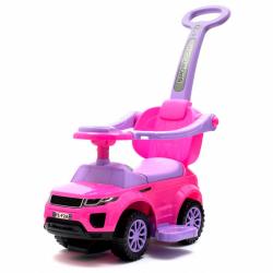 Detské hrajúci Jezdítko 3v1 Baby Mix ružové
