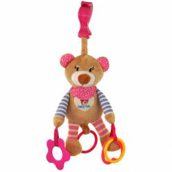 Baby Mix Zabawka z wibracją Miś różowy