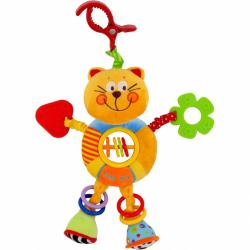 Detská plyšová hračka s hrkálkou Baby Mix mačička