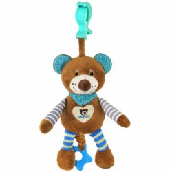 Edukačná hrajúci plyšová hračka Baby Mix medvedík