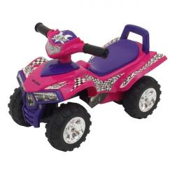 Dětské odrážedlo se zvukem Čtyřkolka Baby Mix dark pink