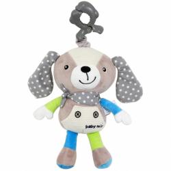 Detská plyšová hračka s hracím strojčekom Baby Mix Psík béžový