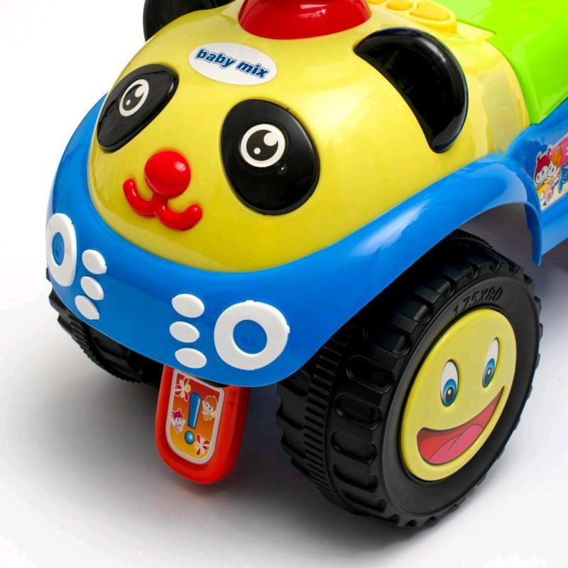Detské odrážadlo so zvukom Baby Mix Panda zelené