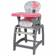 Jídelní židlička Baby Mix 2v1 Coral