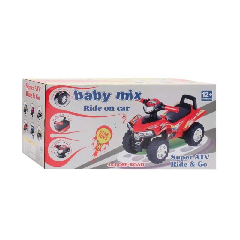 Dětské odrážedlo se zvukem Čtyřkolka Baby Mix zelená