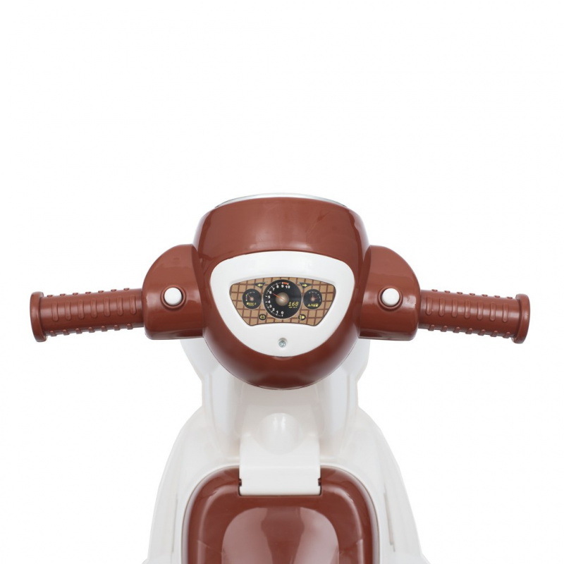 Detské odrážadlo motorka so zvukom Baby Mix Scooter bielej