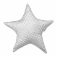 Dětský dekorační polštář, Hvězdička - minky šedá