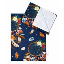 2 - dielne bavlnené obliečky Lapač snov - granátová, 135x100