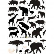 Nálepky, dekorace na stěnu 70 x 100 cm - Afrika