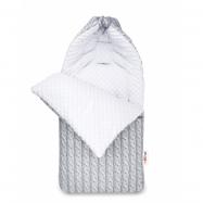Bavlněný fusak 45 x 95 cm - šedý / bílý