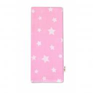 Kvalitní bavlněná plenka - Premium, 70x80cm - Hvězdičky bílé na růžové