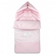 Bavlnený fusak s výšivkou, 45 x 95 cm - ružový