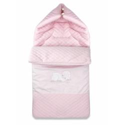 Bavlněný fusak s výšivkou, 45 x 95 cm - růžový