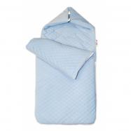 Bavlnený fusak prešívaný, 45 x 95 cm - modrý