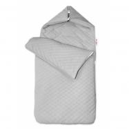 Bavlnený fusak prešívaný, velvet, 45 x 95 cm - šedý
