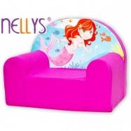 Detské kresielko / pohovečka Nellys ® - Malá morská víla, ružové