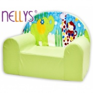 Detské kresielko / pohovečka Nellys ® - Safari v zelenom
