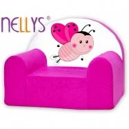 Dětské křeslo Nellys - Beruška růžová