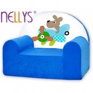 Detské kreslo Nellys - Pilot / letatýlko modré