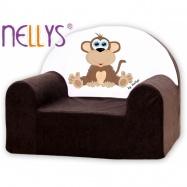 Detské kreslo Nellys - Opička Nellys hnedá